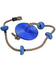 KEBY Asiento de Cuerda de Escalada con Plataformas de Disco, Soporte de platillo para niños, para Patio Trasero