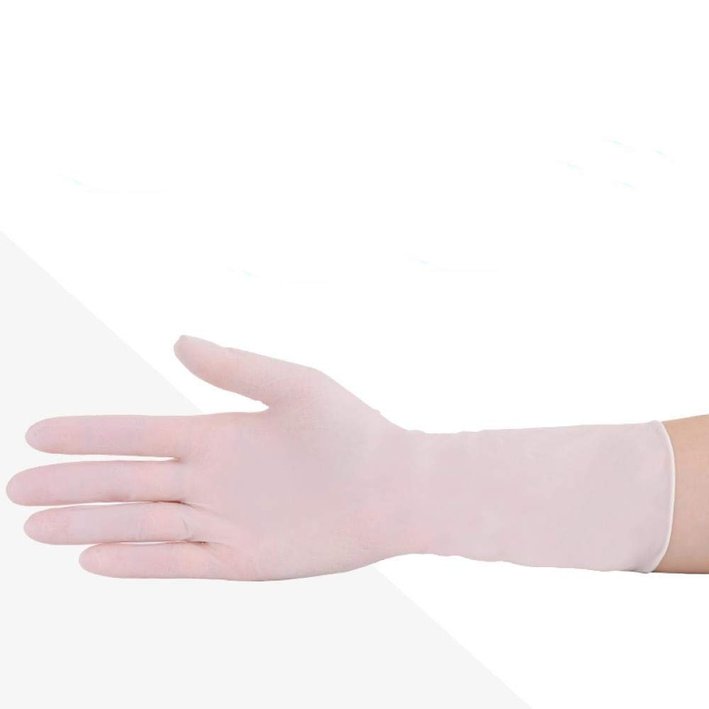 Food disposable PVC gloves, latex leather, small rubber packaging, catering baking, plastic kitchen secondary gloves, S, White-High Elasticity 100