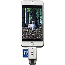 KOLSOL Trail and Game Camera SD Card Viewer for IOS iPhone Android System Phones with Micro USB2.0 OTG Port Reads SD and Micro SD Cards for Hunting Game Camera Viewer
