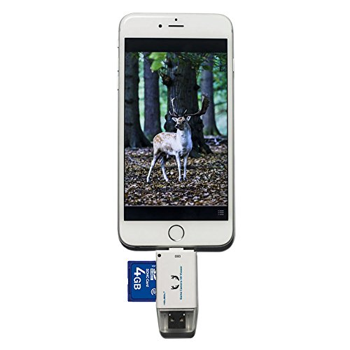 Kolsol Dual-use Trail Game Camera SD Viewer For IOS Android Micro USB Connector Reads SD And Micro SD Cards by KOLSOL