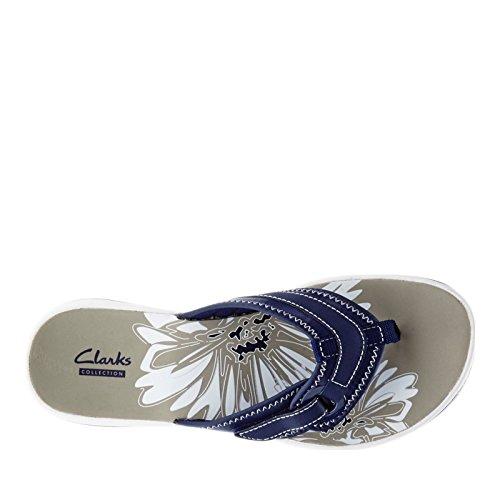 Clarks Femmes Brise Mila Mer Synthétique Flip Flop Sandale Marine