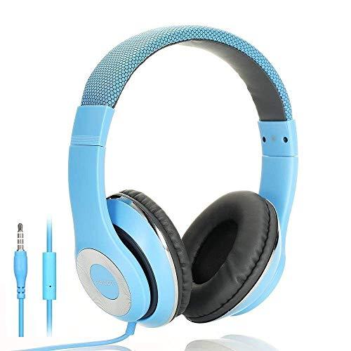 A USDOM Over Ear Headphones Wired, Adjustable Lightweight Hi...