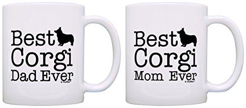 Corgi Gifts Best Corgi Mom and Dad Ever Corgi 2 Pack Gift Coffee Mugs Tea Cups White
