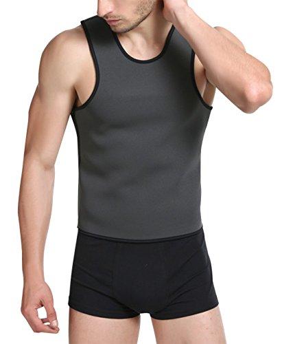 Niyatree Men Quick-drying Body Shaper Slimming Shirt Elastic Vest Size 5XL Grey (Elastic Core Ventilated Belt)