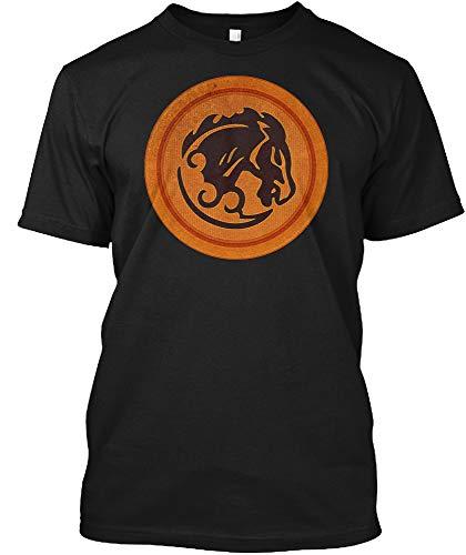 Bucking Bronco Emblem Shirt L - Black Tshirt - Hanes Tagless Tee