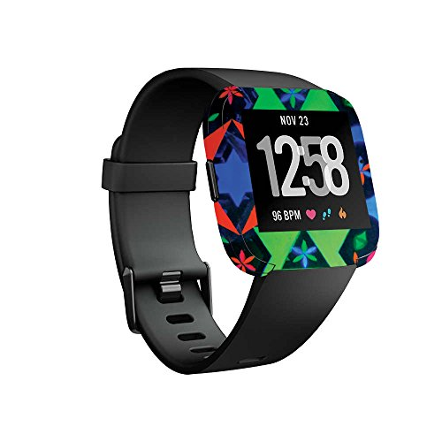 MightySkins Skin for Fitbit Versa Smartwatch - Geometric Rave | Protective, Durable, and Unique Vinyl Decal wrap Cover | Easy to Apply, Remove, and Change Styles | Made in The USA ()