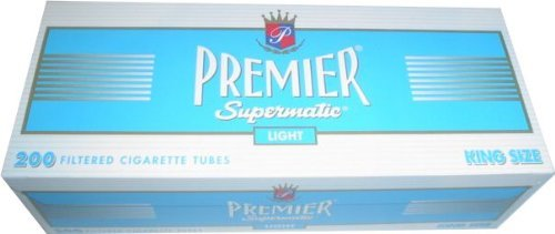 (5) Five Boxes of Premier Supermatic Light - King Size Cigarette ()