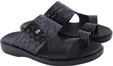 Bartorelli Black Comfort Sandals Sandal For Men