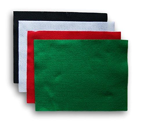 Crafting Felt Rectangle Set - 4 Ct - Christmas Colors