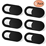 Webcam Cover (6 Pack) Allinko 0.03 inch Ultra Thin Laptop Camera Cover Slide for Computer MacBook Pro/Air iMac iPhone Cell Phone PC Tablet Notebook Surface Pro, Camera Blocker Privacy Cover Slider
