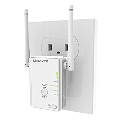LTERIVER 802.11 N 300Mbps Wi-Fi Repeater/Range Extender with External Antenna(Blue) by LTERIVER TECHNOLOGY LTD
