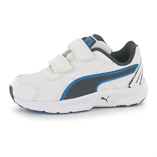 Puma Descendiente Para Niños Trainers Niños) Zapatillas de running Sport zapatillas, White/GreyBlue: Amazon.es: Ropa y accesorios