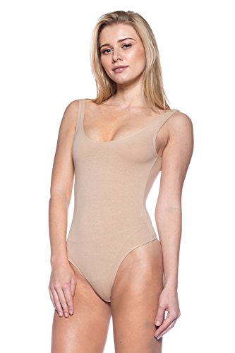 (Women's J2 Love Cotton Tank Thong Bodysuit, Small,)