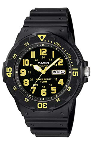 (Casio Men's MRW-200H-9BVDF Sports Analog Dive Quartz Black Watch)