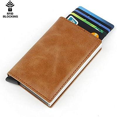 LWYJ Mens Metal Wallet RFID Bloqueo automático Pop-up ...