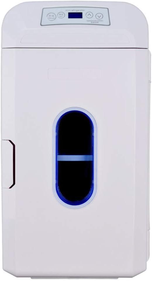 GL- 35l Refrigerador para Autos Portátil 12v / 24v / 220v Mini refrigerador Congelador Car Home Refrigerador de Doble Uso, Doble núcleo, refrigerador y Caja más Caliente - Blanco