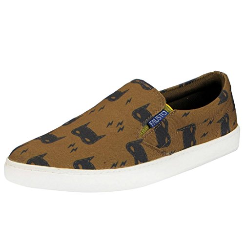 FAUSTO Men's Canvas Printed Shoes