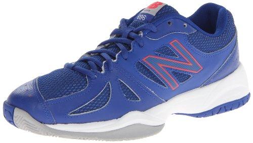New Balance Women's WC696 Tennis Shoe,Blue/Pink,5 D US