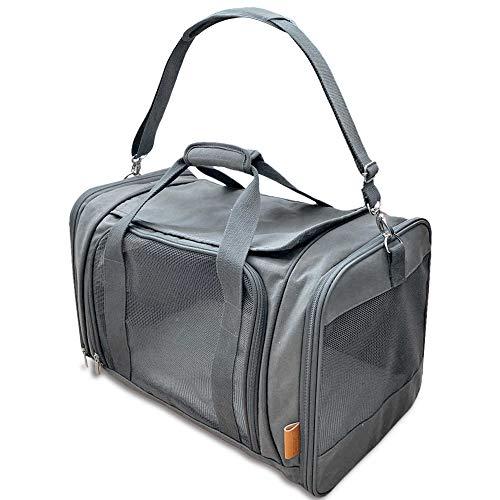 PiuPet® Katzentransportbox – Ideal für Katzen & kleine Hunde – Stabile Transporttasche mit großem Blickfeld…
