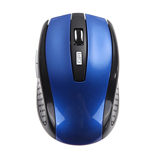 Everpert Sem Fio Portable 2.4Ghz Wireless Optical Gaming Mouse Gamer Mice blue