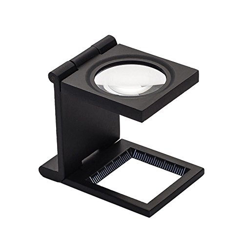 Joyutoy Linen Tester Prefocus Folding Magnifier 10X Magnifying Tool with Scale & Light For Textile printing