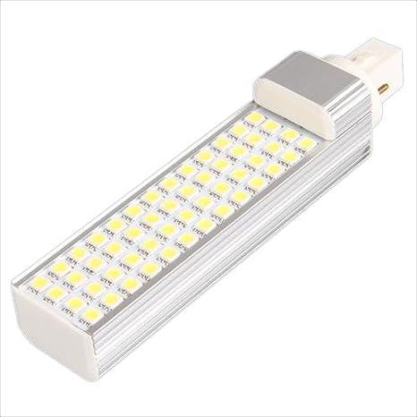 Sonline Bombilla 52 5050 SMD LED G24 8W 220V Blanco Coche Luz Lateral Lmpara Lm: Amazon.es: Hogar