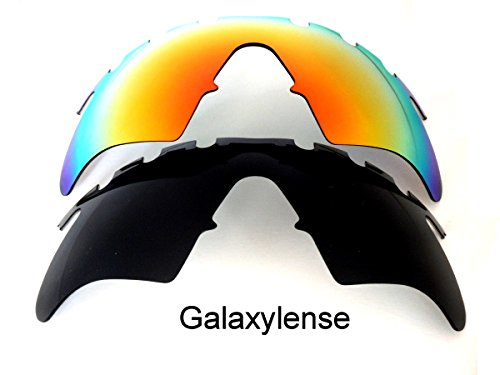 Galaxy Replacement Lenses For Oakley M Frame Heater Vented Black/Red 2 PS -