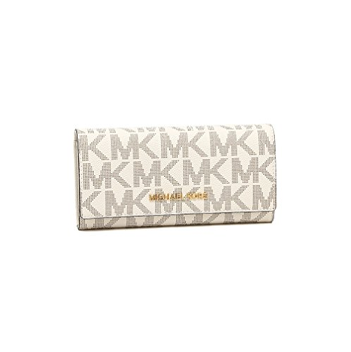 Michael Kors Womens Jet Set Travel Carryall Large Saffiano Leather Wallet Vanilla by Michael Kors