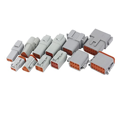 Deutsch Wire - 6 Sets of (2+3+4+6+8+12)Pin waterproof wire electrical connector plug 22-16AWG Automobile Connector
