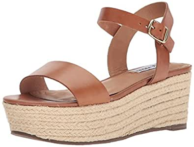 65ef927f68d9 Image Unavailable. Image not available for. Color  Steve Madden Women s  Busy Wedge Sandal ...