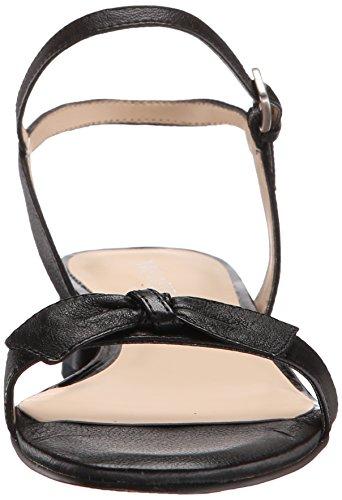Nine West Noli de cuero del vestido de la sandalia Black