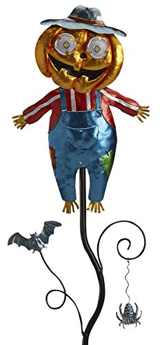 Goblin Guiders - Solar Powered Halloween Decorative Lights - Jolly Pumpkin Scarecrow ()