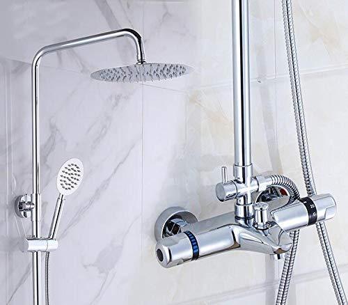 3 Bathroom Thermostatic Shower Shower Shower Faucet Shower Head Set,Wall Mount Shower Faucet Mixer,Brass Shower Faucet Thermostatic Mixing Valve,03 6d2c15