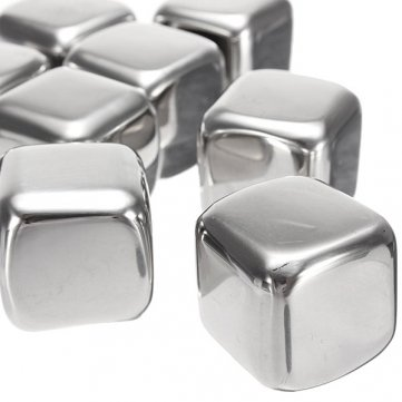 High Quality Stainless Steel Whisky Stones Cube Glacier Whiskey Rocks Cesis