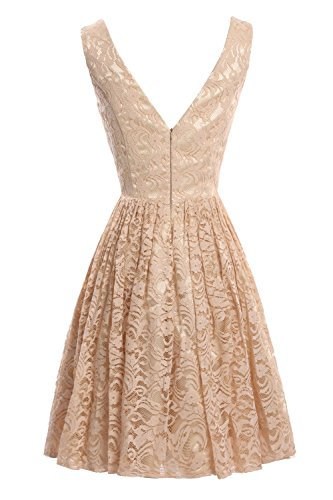 Women's Line Lace Bridal Party Evening Short Champagne Dora A Prom Dresses qAI11w