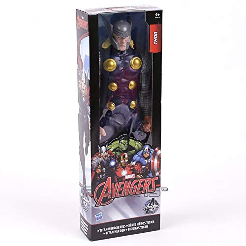 Thor box -Type2307 Marvel Super Heroes Avengers Thanos Black Panther Captain America Thor Iron Man Spiderman Logan Hulkbuster Hulk Action Figure - Superhero Toys for 4 Year Old Boys