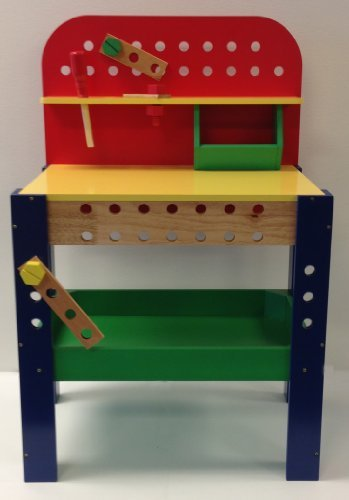 Kid's Toy Work Bench with Tools - Wooden