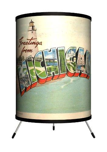 Michigan Lighting (Lamp-In-A-Box TRI-TRV-MICHI Travel - Michigan Postcard Tripod Lamp)