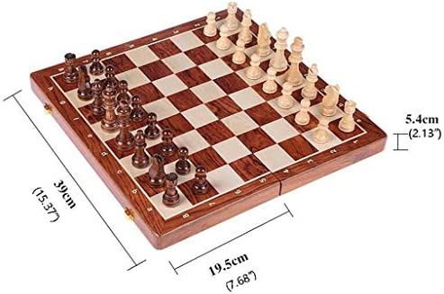 Schaakspel Top Grade Houten Folding Large Schaak Handwork Planken Pieces Walnut Schaakbord Kinderopvang Gift Board Game Schaakbord