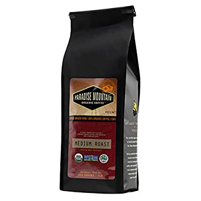 Paradise Mountain, Rare Thailand Medium Roast, Certified Organic, Fair Trade, Whole Bean Coffee 16 oz.
