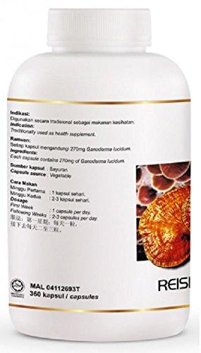 MUST BUY ! 1 Bottle DXN Reishi Gano RG-360 with Ganoderma Lucidum ( Total : 360 Capsules x 270 mg )