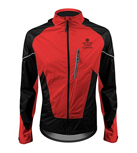 Tall Men's Waterproof Breathable Cycling Jacket (Tall XX-Large, Red)