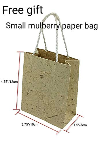 NAVA CHIANGMAI Thin Standard Color of Mulberry Paper Sheets Paper Decorative DIY Craft Scrapbook Wedding Decorative Mulberry Paper Art Tissue Japan (Onion & Tamarind Paper)