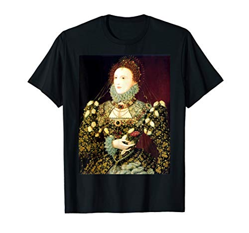 Queen Elizabeth English Tudor Portrait T-Shirt