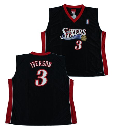 NWT Allen Iverson #3 Philadelphia 76ers NBA Reebok Womens Fashion Jersey Size Large by Reebok