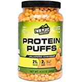 Zwilling Peaks Ingredients Protein Puffs - Jalapeño Cheddar 300g (10 Servings), 21g Protein, 2g Carbs, 120 Cals, High Protein, Low Carb, Soy Free, Gluten Free, Potato Free - Best Protein Snack