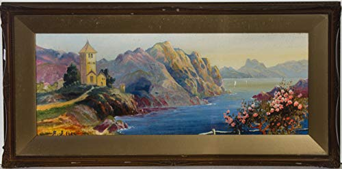 A.J. Isles - A Pair of Framed Early 20th Century Oils, Italian Lake Scenes