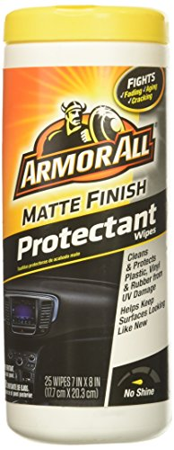 Armor All Matte Finish Protectant Wipes (25 count), 18227 (Wipes Shine Protectant)