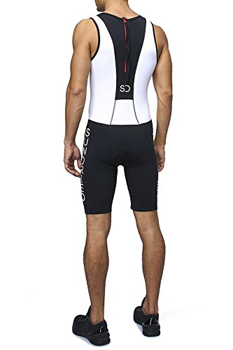 a8d1e11e9e8 Sundried Mens Premium Padded Triathlon Tri Suit Compression Duathlon  Running Swimming Cycling Skin Suit (Large
