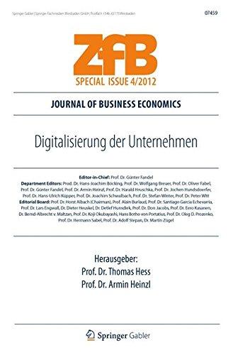 Digitalisierung der Unternehmen (ZfB Special Issue) (German Edition) Taschenbuch – 14. August 2012 Thomas Hess Springer Gabler 3834934518 Betriebswirtschaft